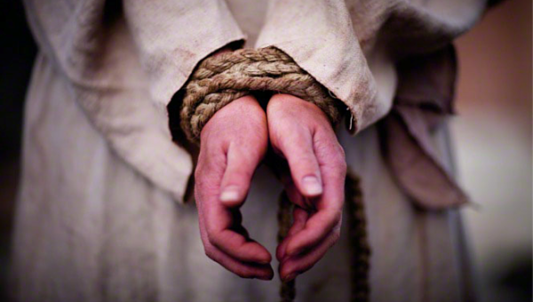Happy Intercessors: Christ With Hands Tied